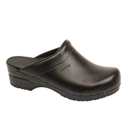 Sanita Footwear Leather Womens Sonja Clog Black, 5.5 - 6 (1500047-02-36)