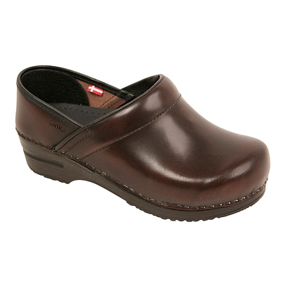 Sanita Footwear Leather Womens Professional Celina Clog Brown, 6.5 - 7 (457806W-03-37)