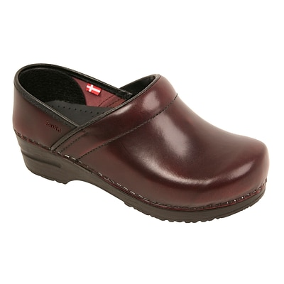 Sanita Footwear Leather Womens Professional Celina Clog, 5.5 - 6 (457806W-47-36)