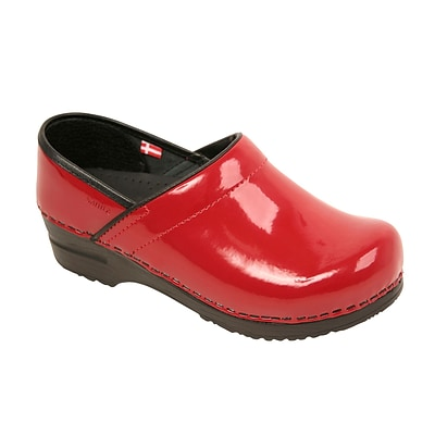 Sanita Footwear Leather Women s Professional San Flex Closed Back Red, 6.5-7 (457406W-04-37)