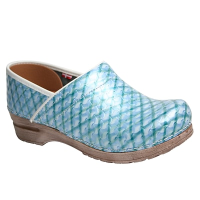 Sanita Footwear Leather Womens Professional Dory Mule Light Blue 40 5.5 - 6 (451686-72-36)