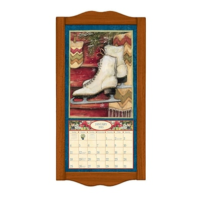LANG® 8 3/4 x 17 3/4 Vertical Wall Calendar Frame; Small, Saddle