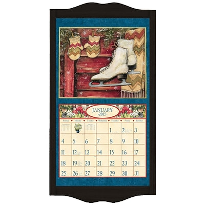 LANG® 14 3/4 x 27 1/2 Wall Calendar Frame; Large, Black Diamond