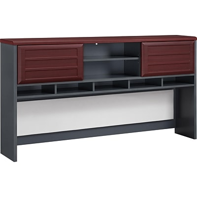 Altra™ Pursuit Engineered Wood Desk Hutch, Cherry/Gray