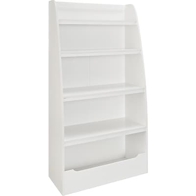Altra™ Mia Kids Engineered Wood 4 Shelf Bookcase, White
