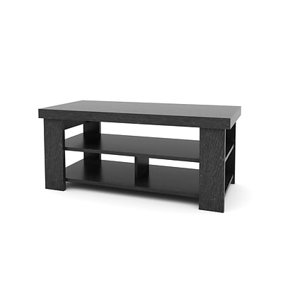 Ameriwood™ 17.63 x 41.5 x 19.5 Hollow Core Coffee Table, Black Ebony Ash
