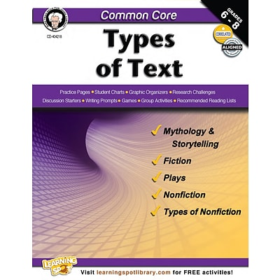 Common Core: Types of Text Resource Book
