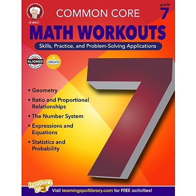 Common Core Math Workouts Resource Book, Grade 7