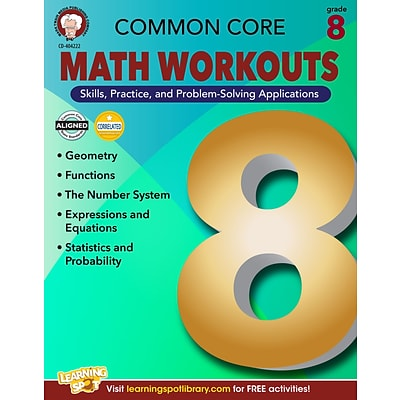 Common Core Math Workouts Resource Book, Grade 8