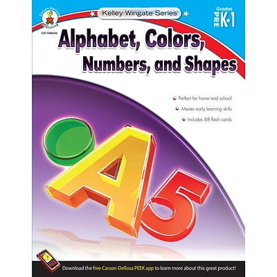 Carson Dellosa Alphabet Colors Number & Shapes
