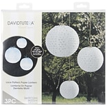 David Tutera 3Pc Lace Look Paper Lanterns