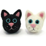 Round & Wooly Cats Needle Felting Kit