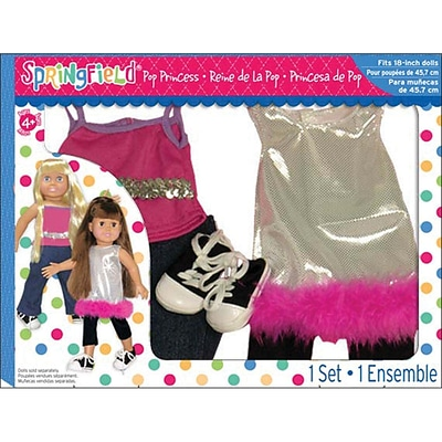 Notions Fabric Fiber Craft Springfield Collection Pop Princess Doll Clothes Set 18