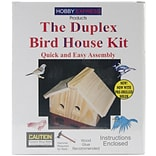 Notions Wood Bird House Kit, Unfinished 7.5