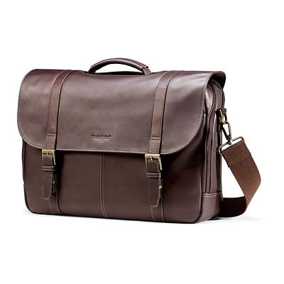 Samsonite Leather Flapover Laptop Briefcase 17