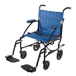 Drive Medical Fly Lite Ultra Lightweight Transport Wheelchair Blue (DFL19-BL)