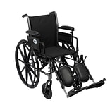 Drive Medical Cruiser III Wheelchair with Removable Flip Back Arms, Adj Desk Arms, Leg rest, 18