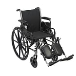 Drive Medical Cruiser III Wheelchair with Flip Back Removable Arms, Desk Arms, Leg rest, 20