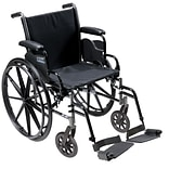 Drive Medical Cruiser III Wheelchair with Flip Back Removable Arms, Desk Arms, Footrest, 18 (K318DD