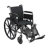 Drive Medical Cruiser III Wheelchair with Flip Back Removable Arms, Full Arms, Leg rest, 20