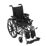 Drive Medical Viper Wheelchair with Flip Back Removable Arms, Desk Arms, Leg rest, 12