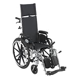 Drive Medical Viper Plus Reclining Wheelchair with Detachable Arms, 12 Seat