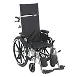 Drive Medical Viper Plus Reclining Wheelchair with Detachable Arms, 14 Seat