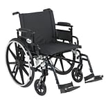 Drive Medical Viper Plus GT Wheelchair with Flip Back Adjustable Arm; Desk Arms, Footrest, 22