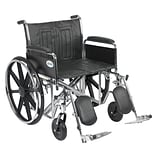 Drive Medical Sentra EC Heavy Duty Wheelchair Detachable Full Arms Elevating Leg Rests 24 Seat (STD