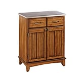 Home Styles 36 Solid Wood & Veneers Buffet with Stainless Top