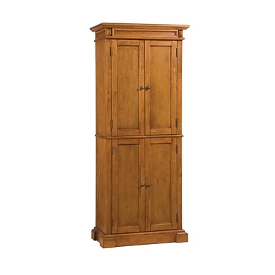 Home Styles Americana Solid Hardwood Cottage Oak Finish Pantry Cabinet Wood Cabinet