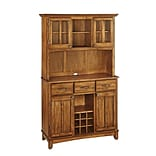 Home Styles 72 Hardwood Buffet with Wood Top and Hutch