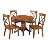 Home Styles Pedestal Dining Set; Cottage Oak