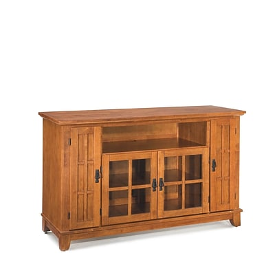 Home Styles 60 Solid Hardwood and Engineered Wood Entertainment Credenza