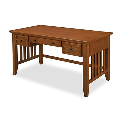 Home Styles Arts and Crafts Executive Desk Oak Wood Solids