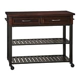 Home Styles 36 Poplar Solids & Mahogany Veneers Kitchen Cart