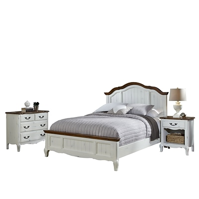 Home Styles French Countryside Bed Night Stand and Chest