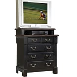 Home Styles Aspen Collection Media Chest Wood & Metal Standard chest, Black