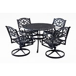 Home Styles 42 Cast Aluminum Outdoor Dining Set