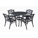 Home Styles 48 Cast Aluminum 5 Piece Round Outdoor Dining Set