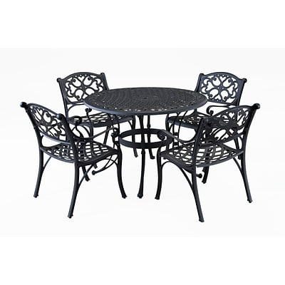Home Styles 42 Biscayne Outdoor Dining Set with 4 Arm Chairs