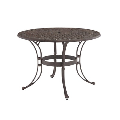 Home Styles 48 Cast aluminum Outdoor Dining Table