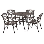 Home Styles 48 Cast aluminum Biscayne Outdoor Dining Set with 4 Arm Chairs