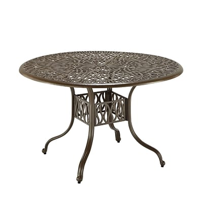 Home Styles 48 Cast Aluminium Floral Round Dining Table
