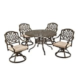 Home Styles 29H Cast Aluminum Floral Blossom Dining Set, 44 lbs.