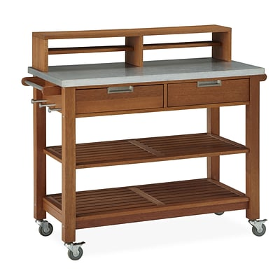 Home Styles 44.25 Shorea Wood & Steel Potting Bench