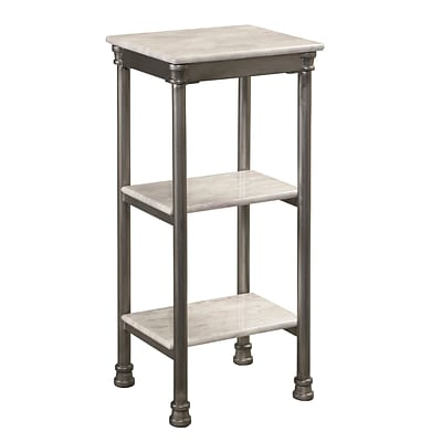 Home Styles The Orleans Laminate Marble Metal Steel 3-Tier Shelf