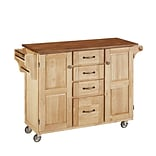 Home Styles 35.5 Oak Wood Kitchen Cart