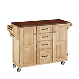 Home Styles 35.5 Wood Kitchen Cart