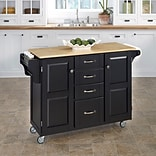 Home Styles 35.5 Wood Cabinet Kitchen Cart